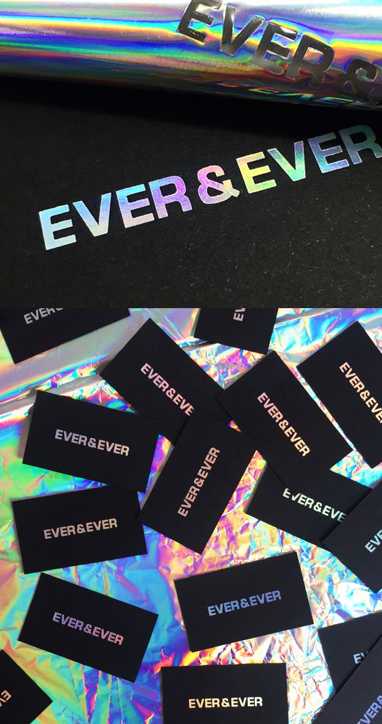 Holographic Business Cards Rainbow Foil Blocking By Dot Studio London Graphic Design Business Card Business Cards Creative Foil Business Cards