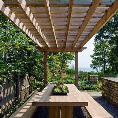 modern landscape arbor design