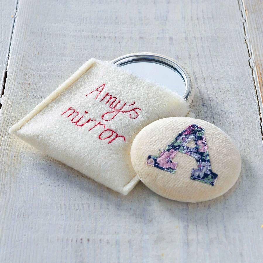 Personalised Vintage Secret Santa//Stocking Filler Christmas Gift Handbag Mirror