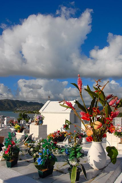 cemetery in the Carribean Island of Martinique