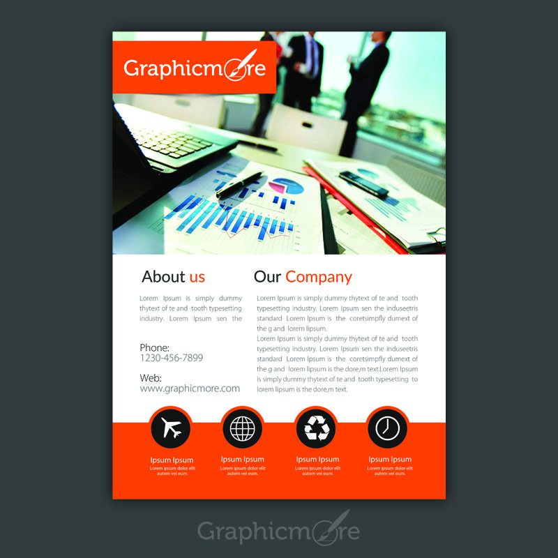 Corporate Accounting Flyer Design Free Psd File Flyers Pinterest