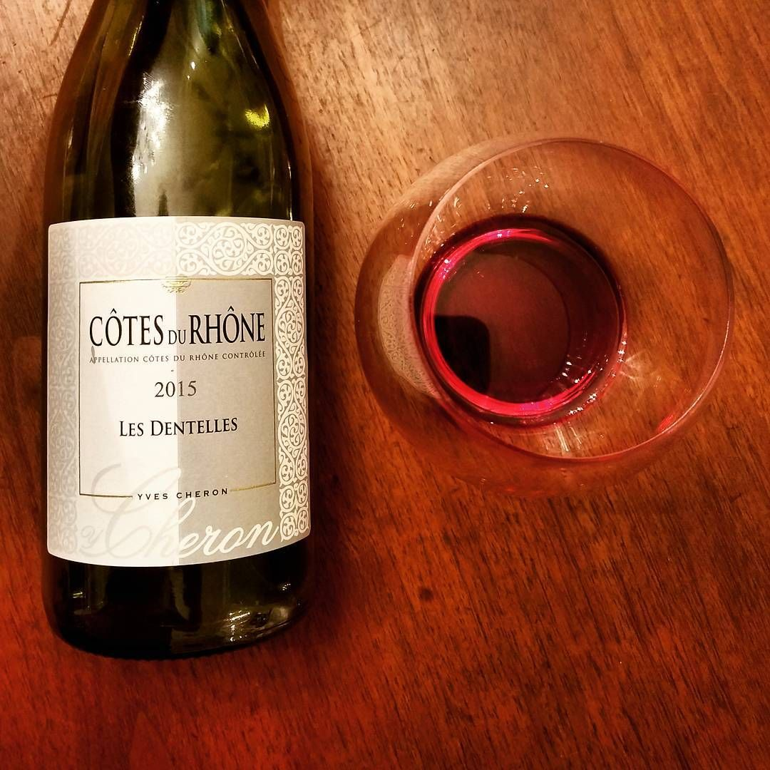 Wineoffthebeatenpath2015 Yves Cheron Cotes Du Rhone Les Dentelles 13 5 Abv 70 Grenache 30 Syrah Grown On A Limestone Along The Dentelles Made From Pu