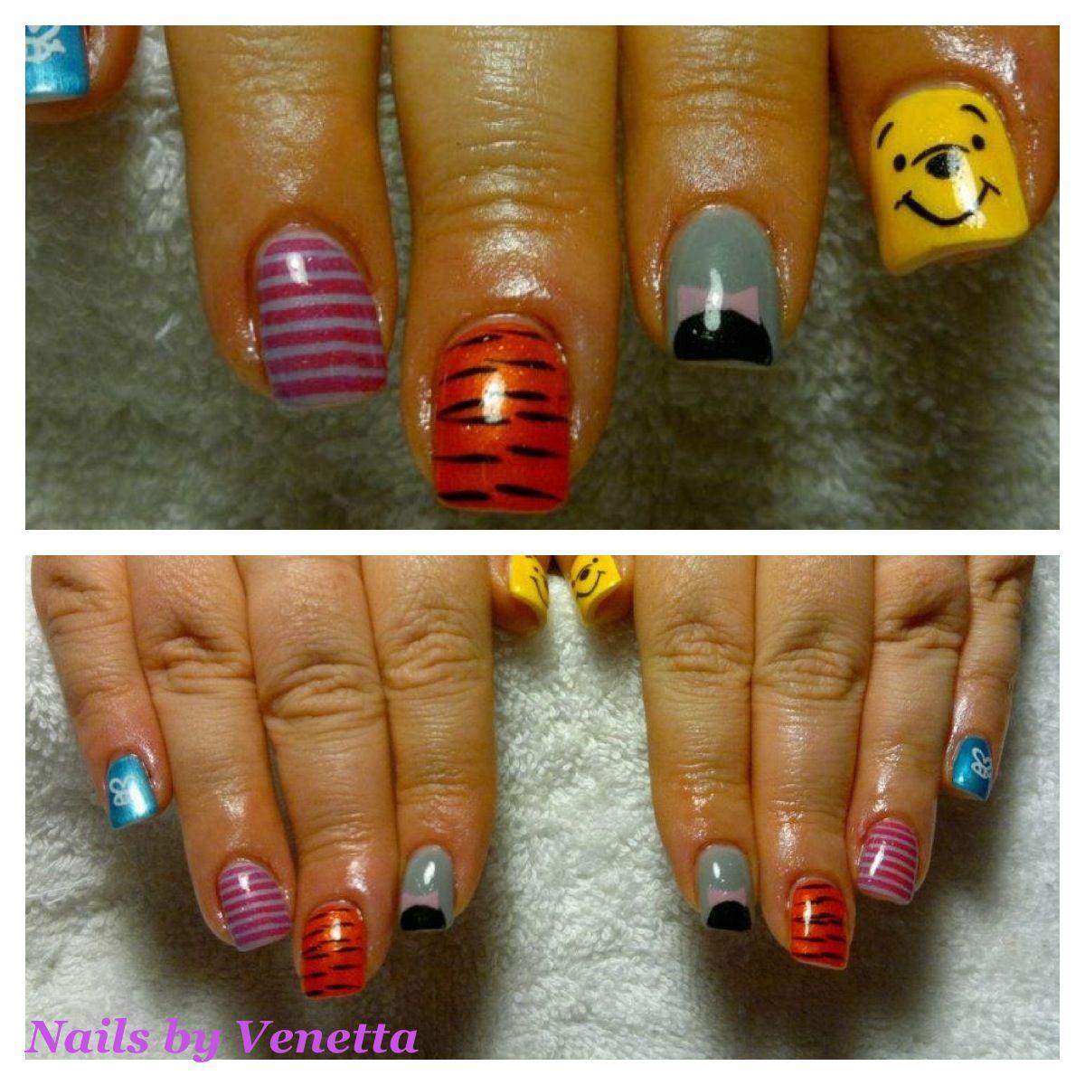 Winnie the Pooh Nails | Acrylic - Nails by Venetta | Pinterest ...