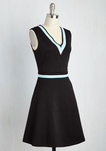 Quad Goals Dress in Black | Mod Retro Vintage Dresses | ModCloth.com