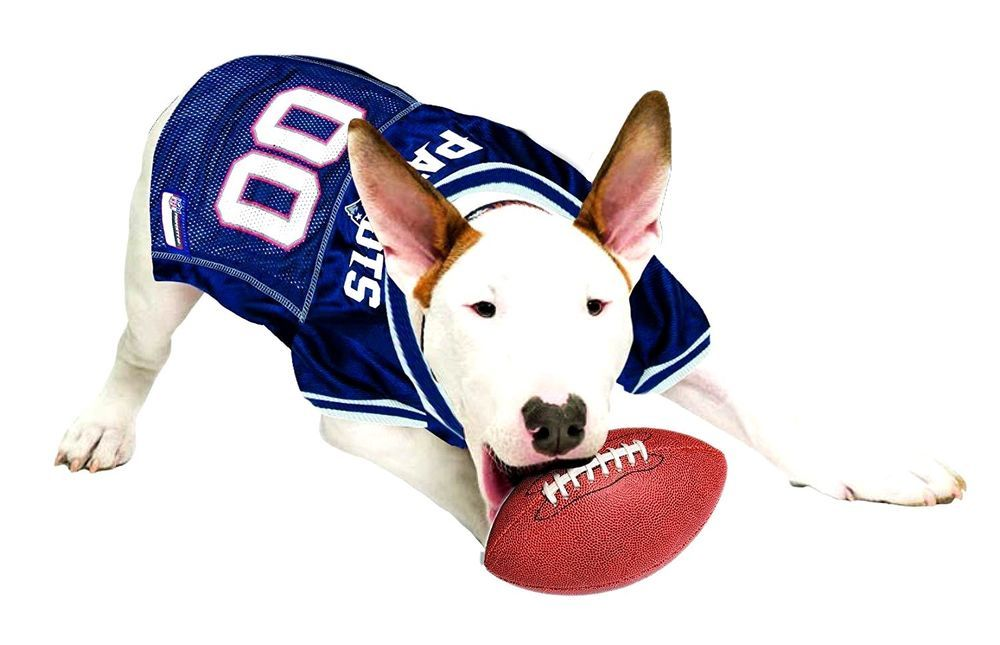 a84d2617a Pets First NFL New England Patriots Pet Jersey  Sports Mesh Jersey. Dog  Outfit S