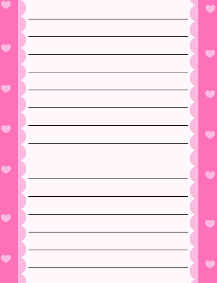 regular lined free printable stationery for kids, regular lined free - lined letter writing paper