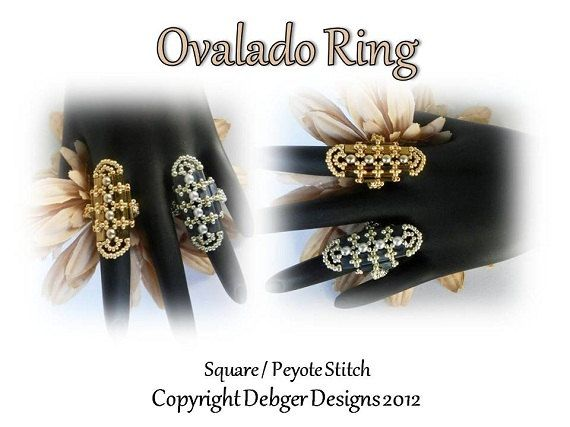 Tila Beading Pattern OVALADO Tutorial Ring