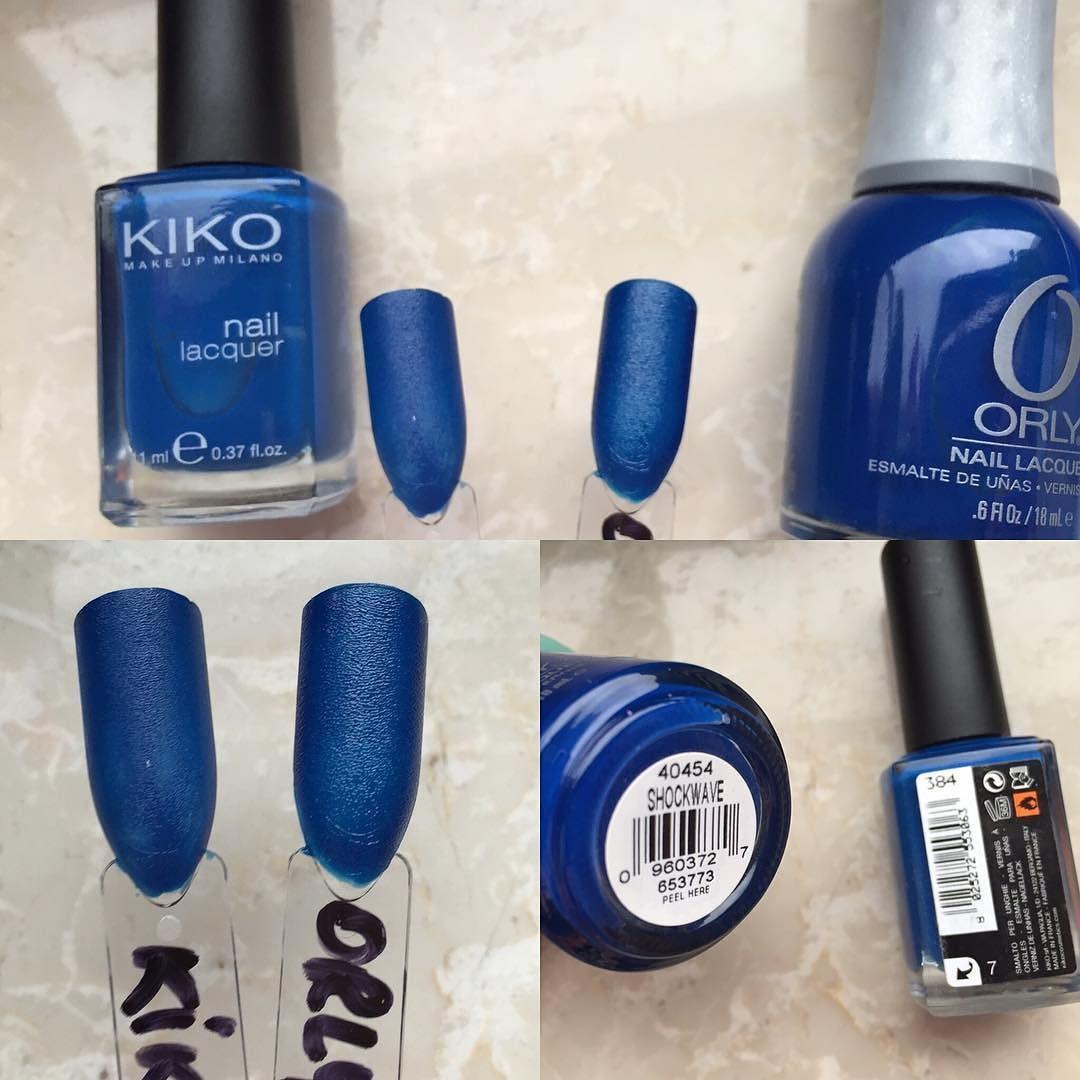 Dupe! Kiko 384 und Orly Shockwave #nagellack #nailpolishdupes ...