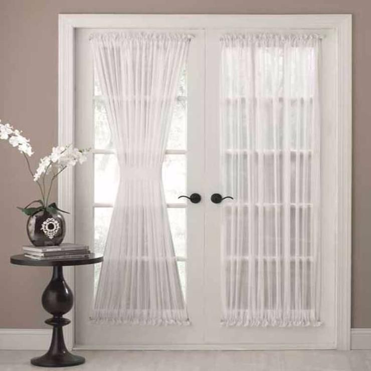 Reverie Snow Voile Tailored Door Panel French Door Coverings