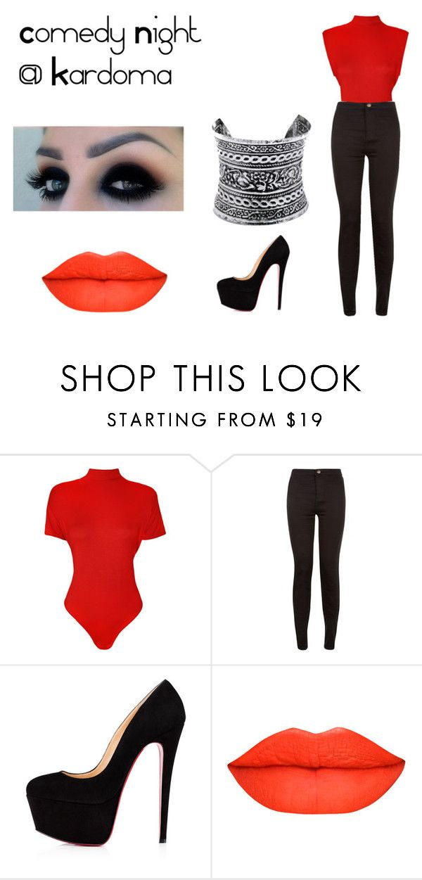 """Comedy Night @ Kardoma"" by amylouisejack on Polyvore featuring WearAll, New Look, LULUS and plus size clothing"
