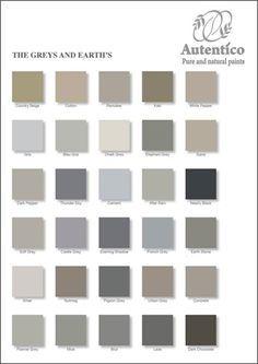 nuancier gris brun - Palette Couleur Peinture Mur