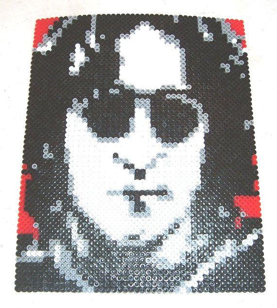 Perler Bead Portrait  JOHN LENNON by MostFavoriteAunt on Etsy, $30.00