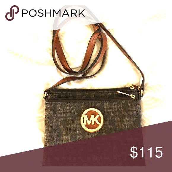 f89e804e88 Michael Kors cross body bag NWOT Dark brown with MK logo Michael Kors Bags  Crossbody Bags  Handbagsmichaelkors