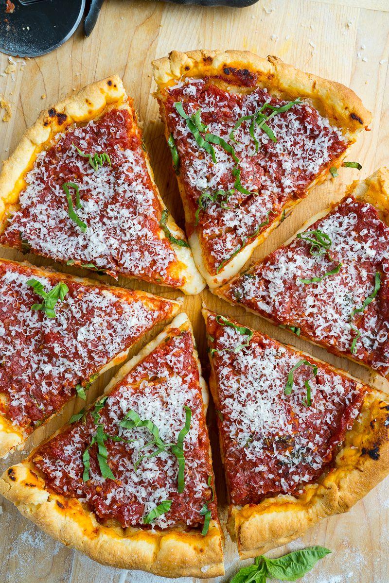 Deep Dish Pizza Recipe Deep Dish Food Recipes Pizza