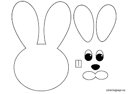 Bunny Head With Ears Coloring Page Google Search Bunny Coloring Pages Easter Bunny Template Easter Bunny Colouring
