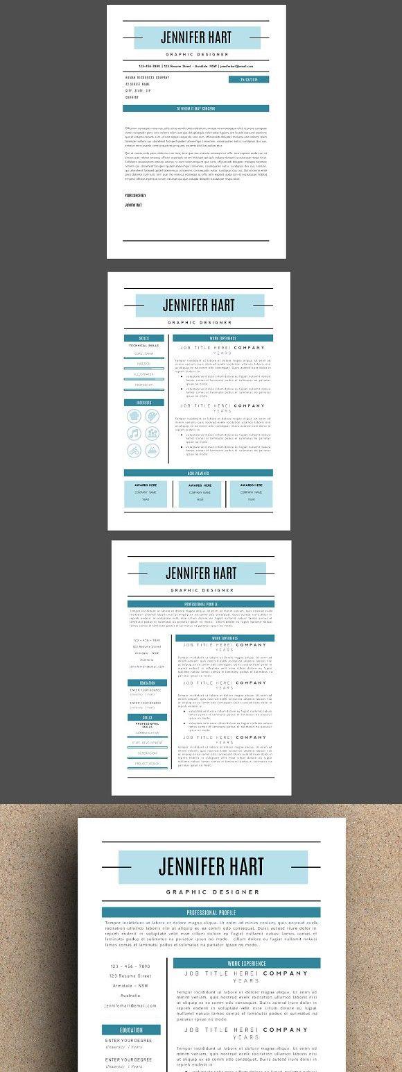 The Jennifer Resume Pack Teal Word program, Online