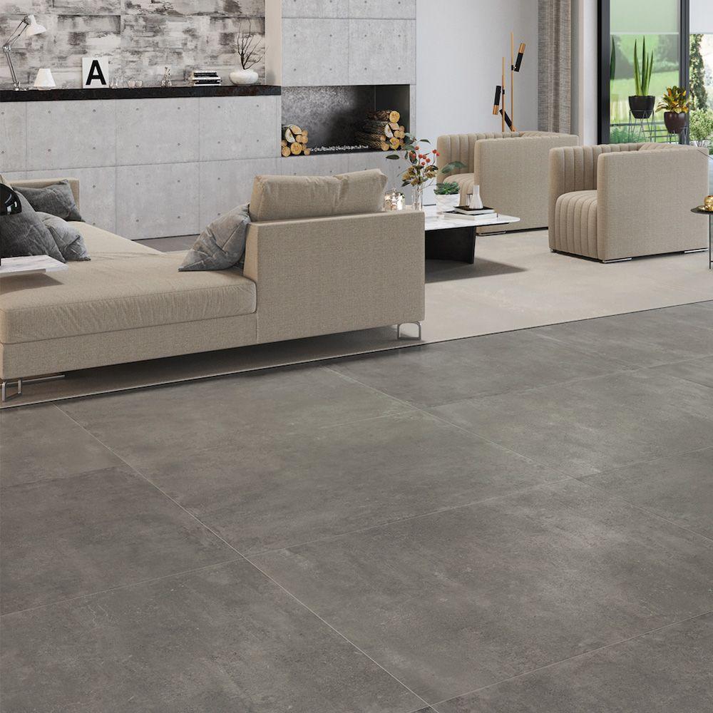 Carrelage Sol Effet Beton 60x60 Grey Fusion Lappato Rectifie