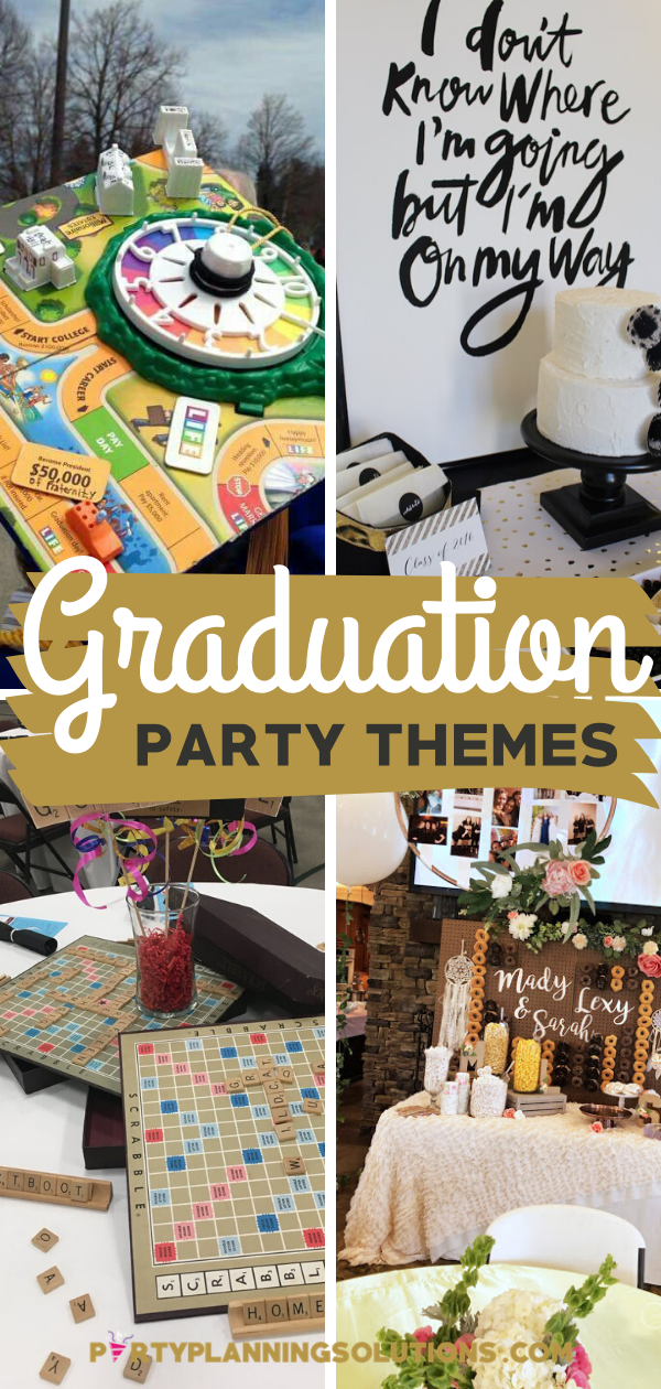 Celebrate Good Times With Great Graduation Party Themes Graduation Party Themes Party Themes Kindergarten Graduation Party