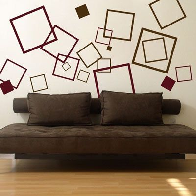 Dali Wall Decals You Could Do This With Frames Too Maybe Fewer Squares Wall Paint Designs Cool Walls Vinyl Wall