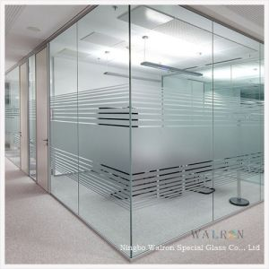 6mm Clear Frosted Tempered Toughened Glass Wall Partition In