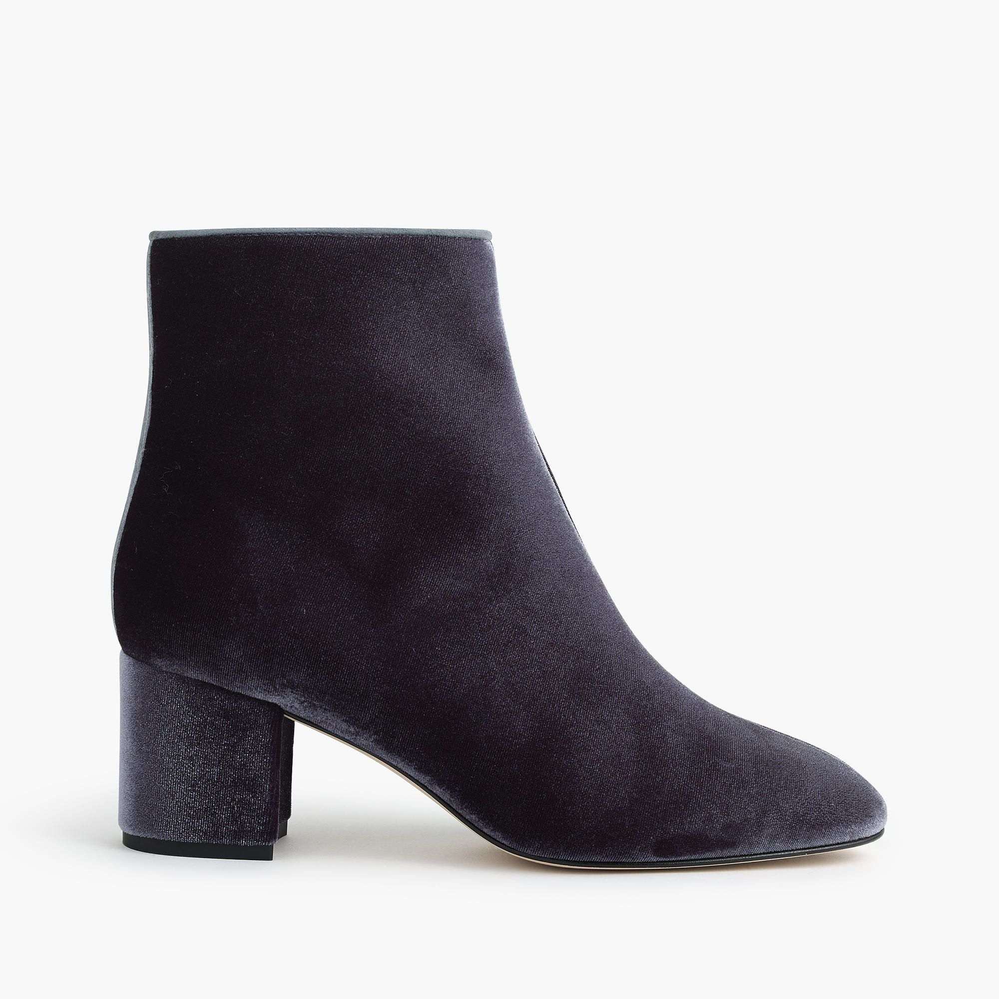 517102f6fb6 PSA  It s officially ankle boot season. Cue the perfect ankle boot in a  luxurious velvet with a walkable 2 1 2-inch heel. Poly cotton spandex upper.