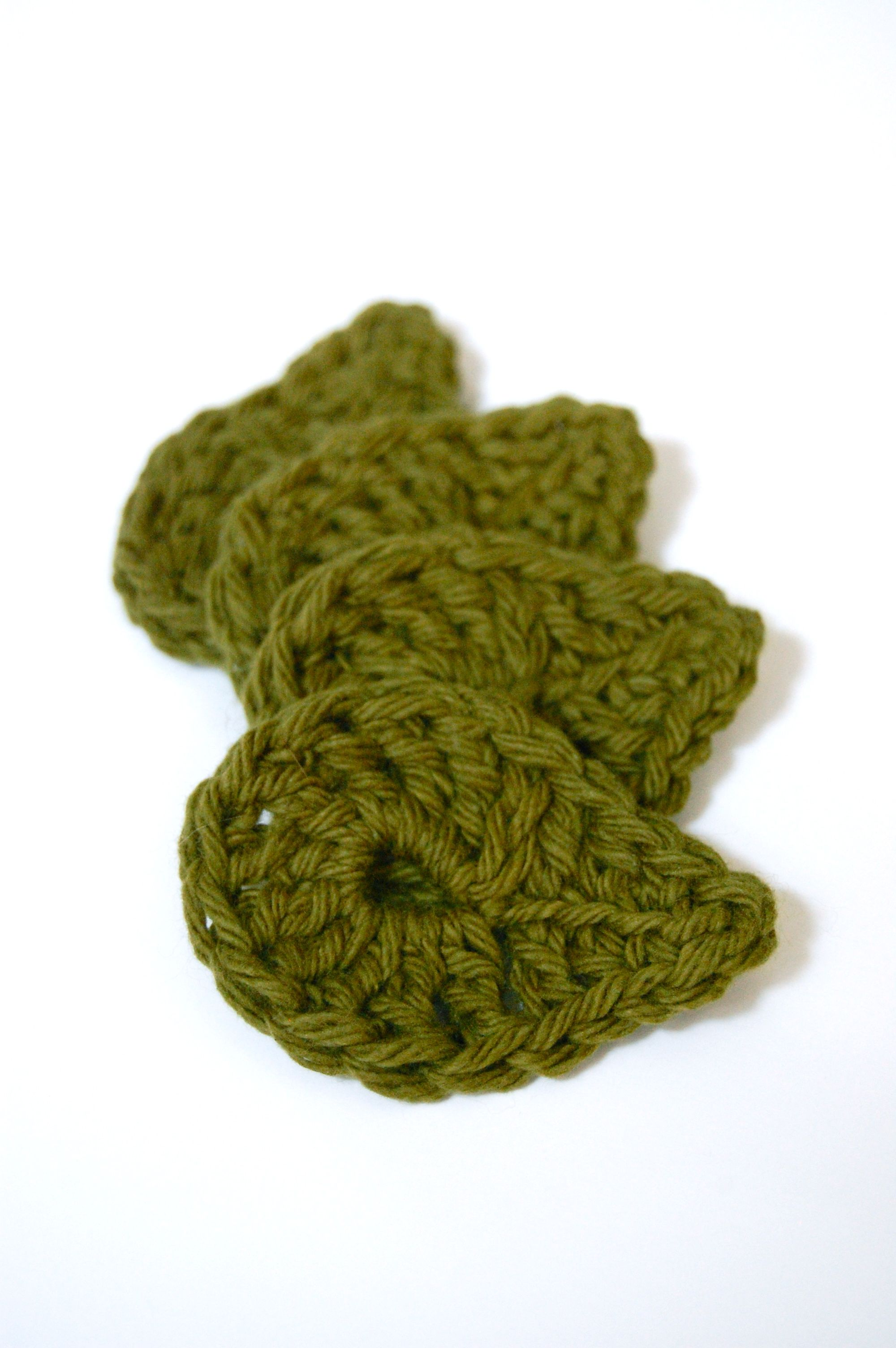Leaf Face Scrubbie Crochet Pattern | Gotas, Apliques de crochet y ...