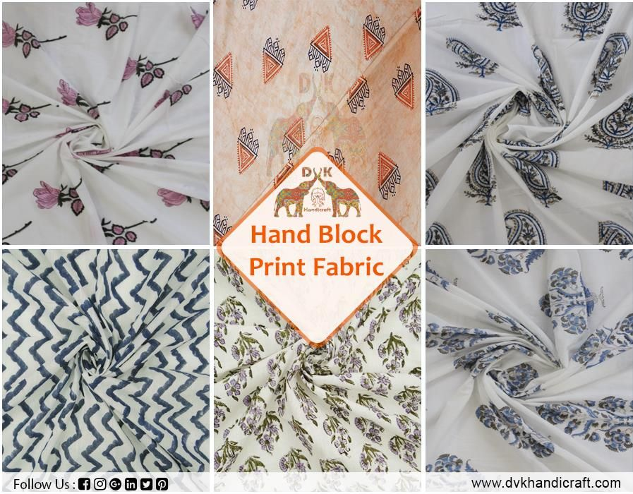 2.5 Yard Hand Block Print Indian Pure Cotton Hand Dyed Stripe Dabu Print Fabric