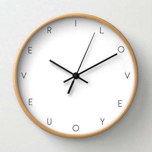 I Love You Ever Wall Clock Motivational Wall Clock With Words Modern Clock Black And White Decoration Minimalist Wall Clocks Modern Clock Wall Clock Modern