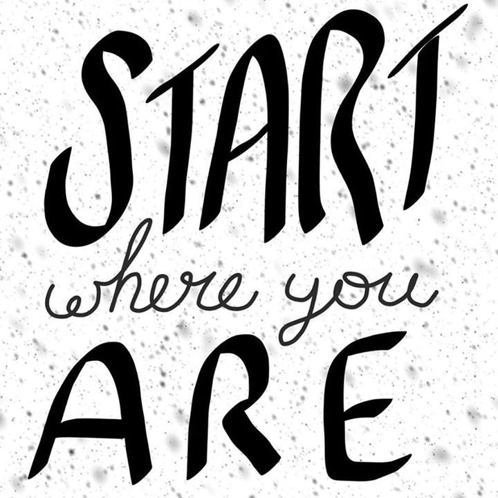 I say this to myself everydaySeriously though I can become so distracted with the things I put on my agenda in a day that I find myself just pausing to think...where was I what was I doing what should I prioritize next? Start where you are; do what is in front of you and get something done!   #heartisancreations #yogaeverydamnday  #letteringart #letteringdaily #letteringaffirmations #positiveselftalk #ipadlettering #yogalettering #positivityfairy #peace #love #namaste #ipadlettering…