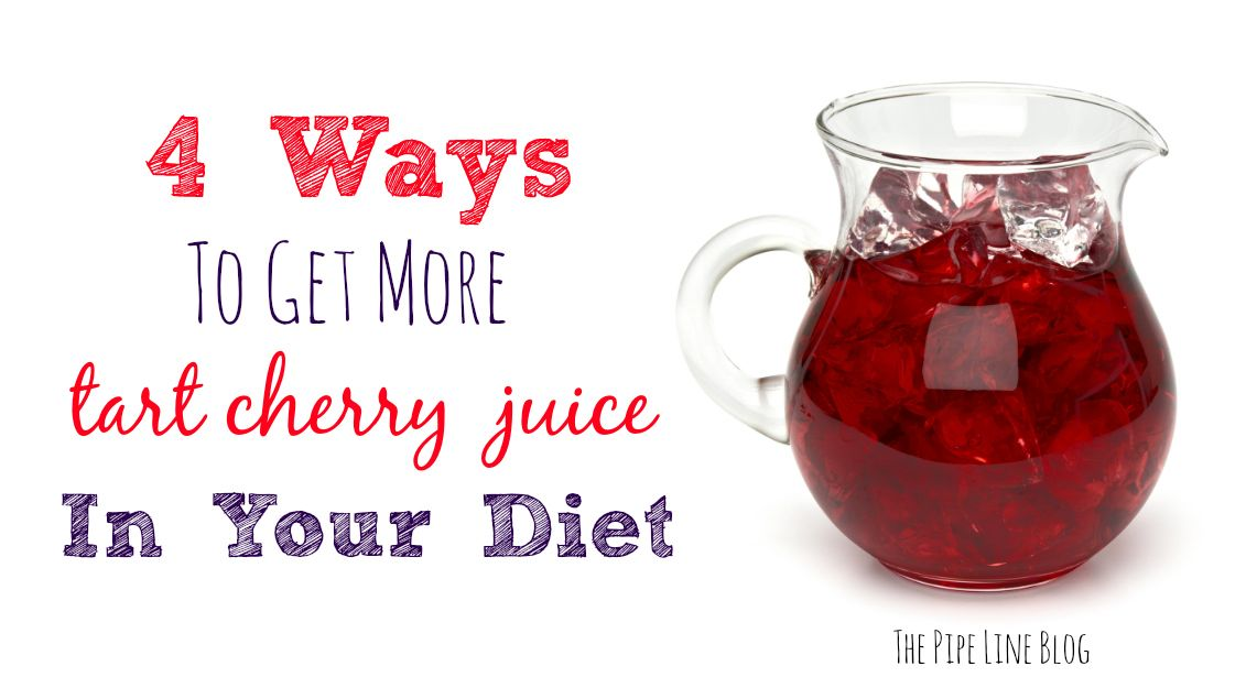 Looking for fun, interesting ways to get more Tart Cherry Juice in your diet? Check out these tasty ideas in today's post on The Pipe Line!