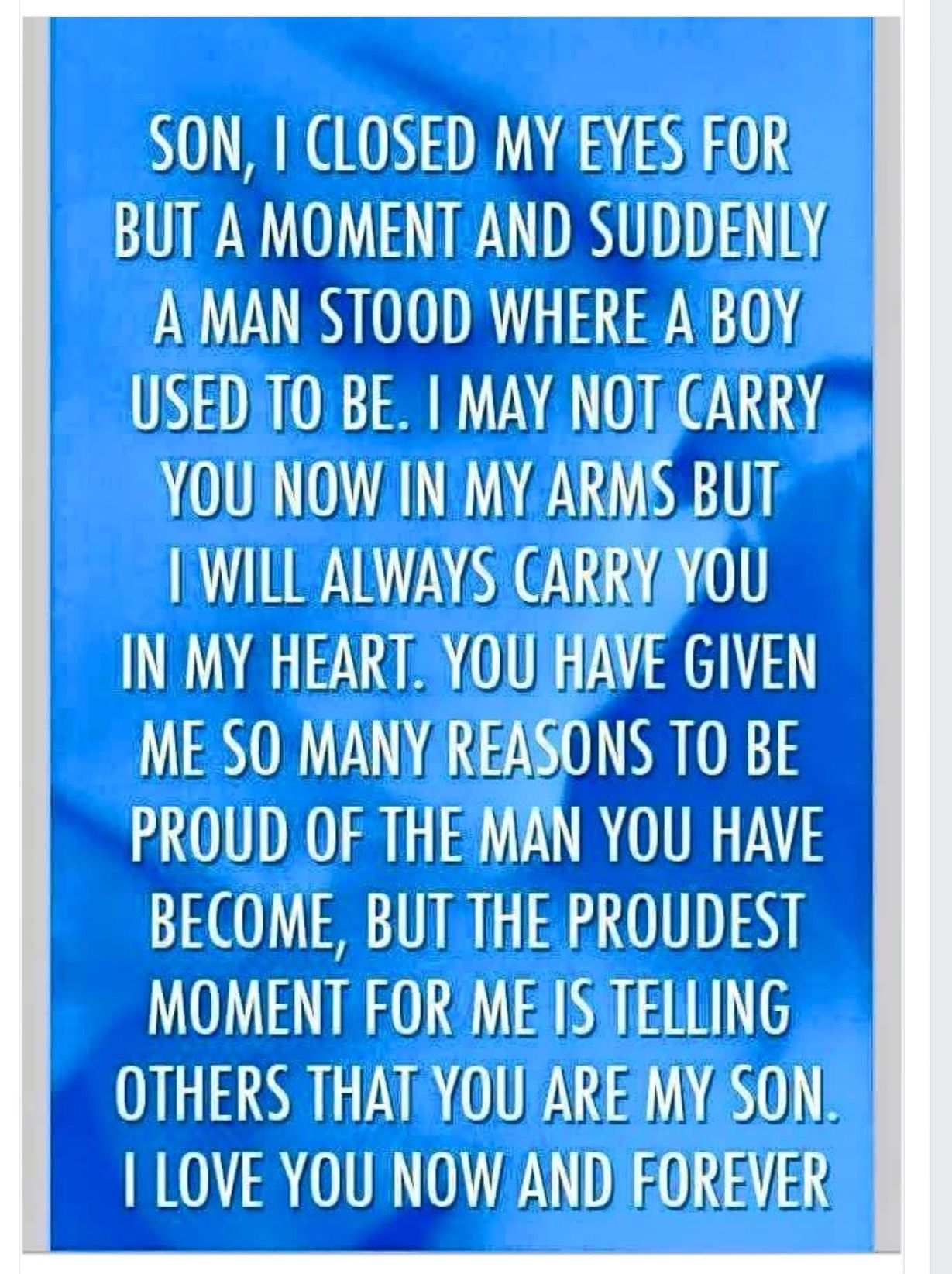 Pin By Mary Hawkes On Thoughts Son Quotes Birthday Wishes Quotes Father Son Quotes