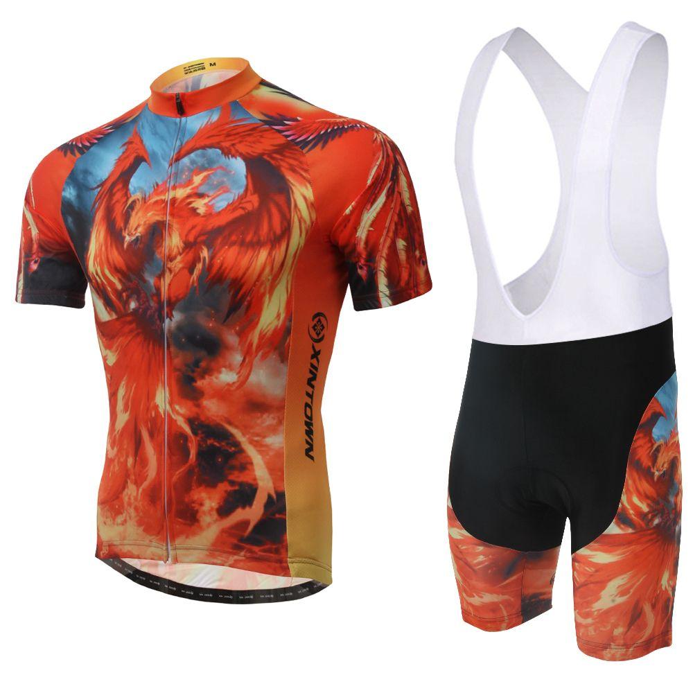 Mens Cycling Jerseys Shorts Set Summer Bike Bicycle Kit MTB Bib Tights+3D Pad