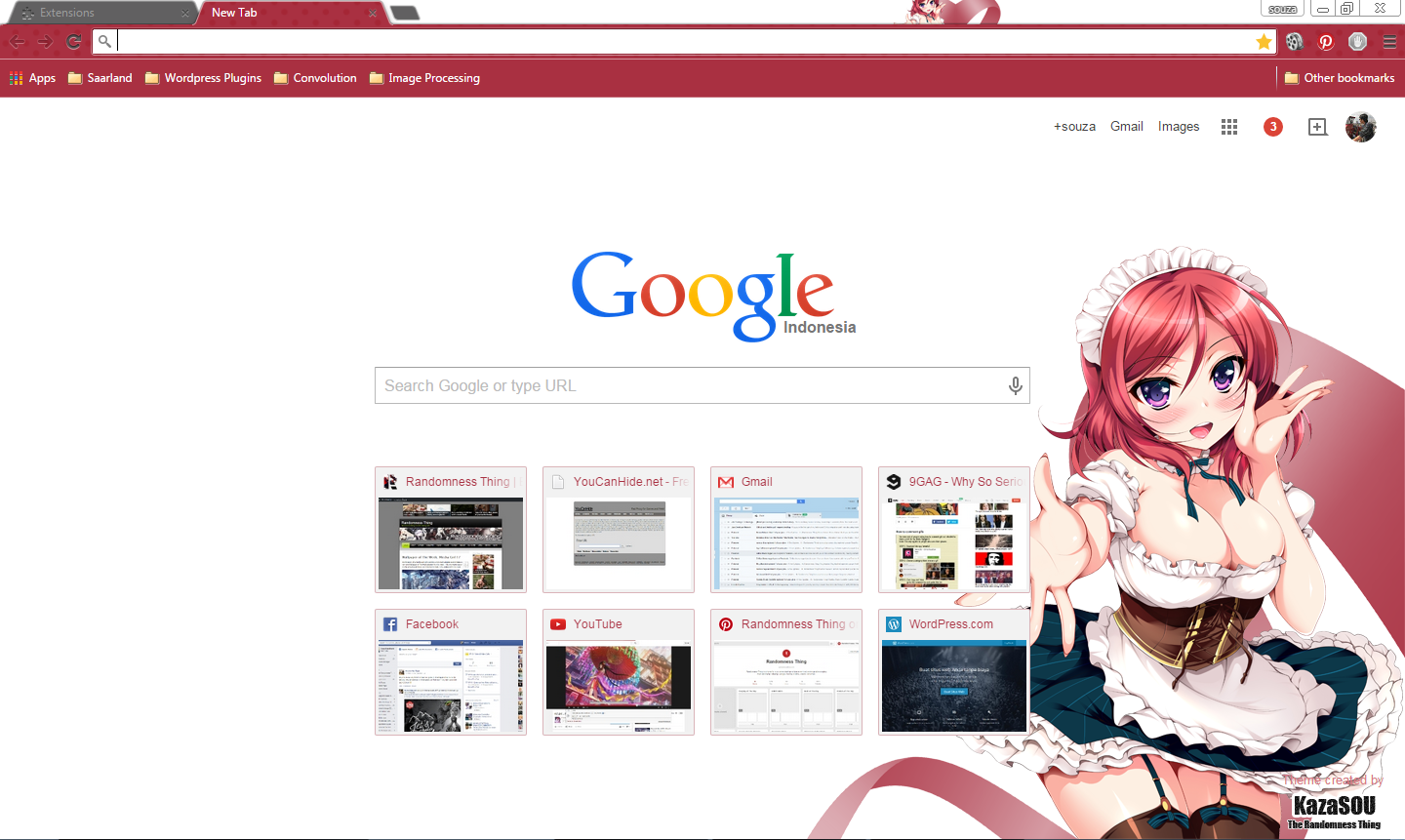 Love themes for gmail - The Same Maid Outfit Wearing Nishikino Maki Is Now Available As A Google Chrome Theme For