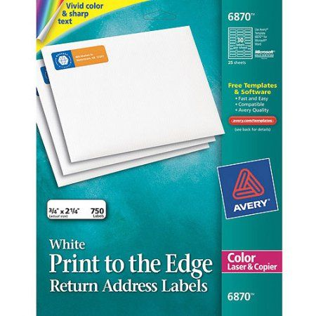 avery vibrant color printing return address labels 3 4 x 2 1 4