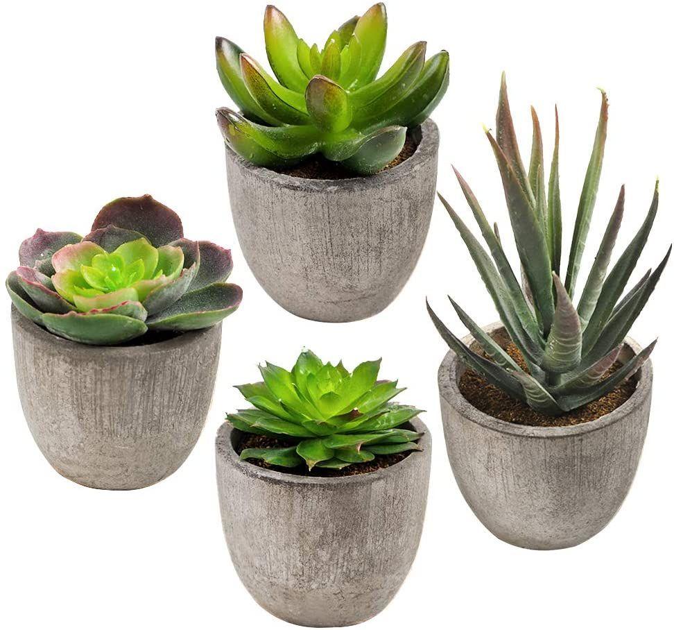 CDWERD 9 Stücke Künstliche Sukkulenten Pflanzen kunstpflanze mit