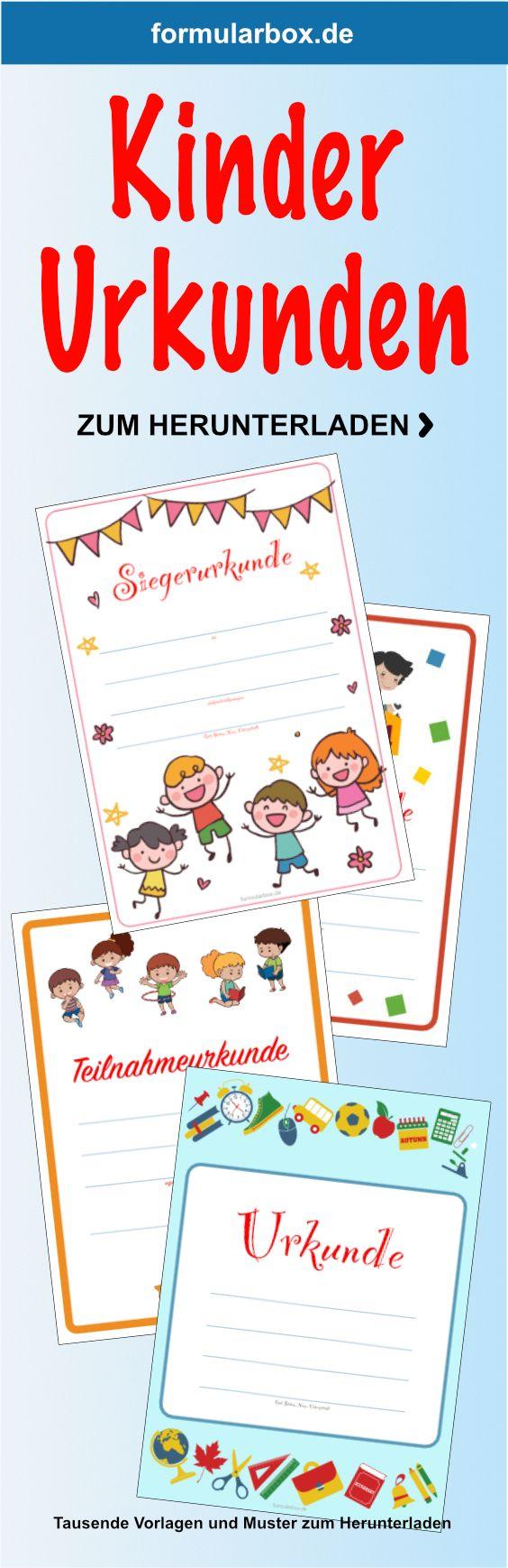 Kinder Urkunden Zum Ausdrucken Urkunden Zum Ausdrucken Urkunde Urkunden Selber Machen