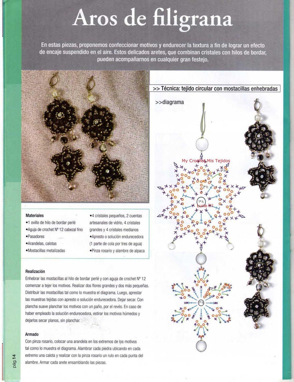 My Crochet , Mis Tejidos by Luna: Ascesorios... Beautiful dangle ...