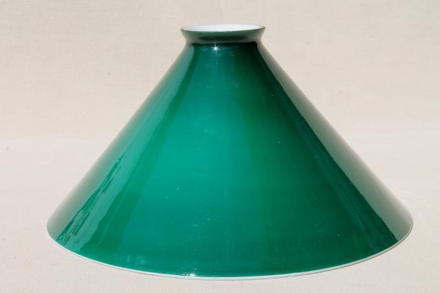 Old emeralite green white cased glass shade vintage lampshade for old emeralite green white cased glass shade vintage lampshade for bankers lamp or student desk aloadofball Gallery