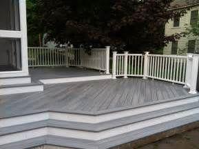 Marvelous Gray Deck Ideas With Box Planters Deck Design Ideas Pictures Patio Deck Designs Decks And Porches Decking Options