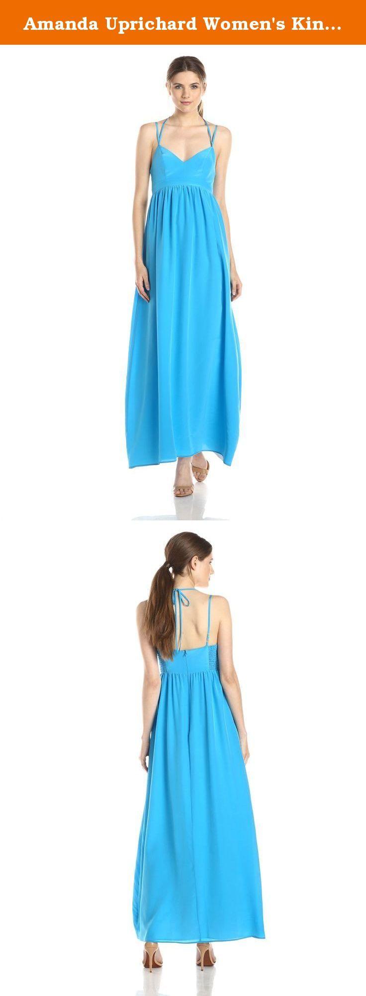 Amanda uprichard silk maxi dress azure