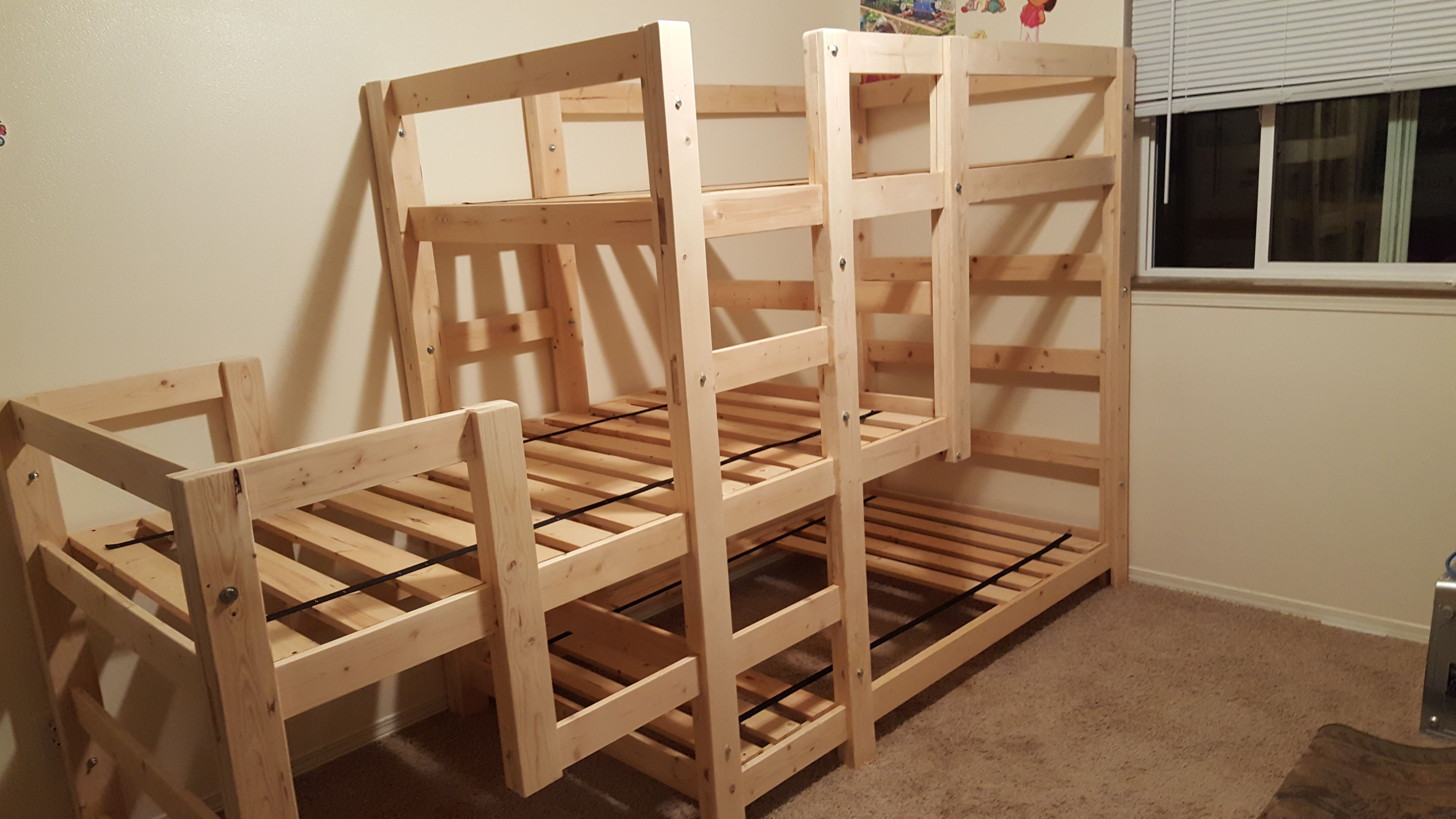 Loft bed ideas diy  Conserving Space And Staying Trendy With Triple Bunk Beds  Our new