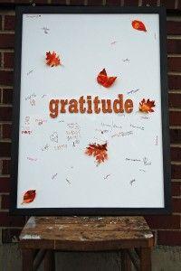 Gratitude board for lesson