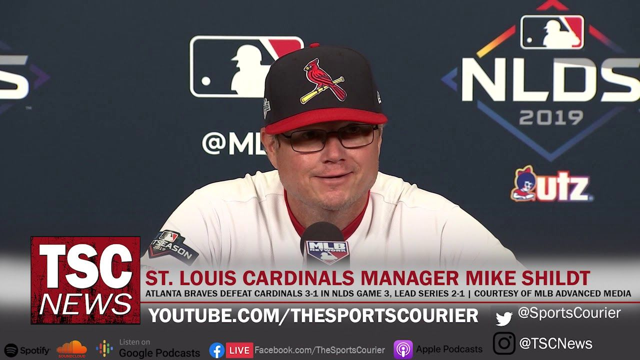 St Louis Cardinals Post Game 3 Nlds Mlb Baseball Press Conference Mike Shildt Cardinals Mlb The Show Louis