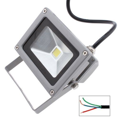 10 Watt 9 LED Cool White Waterpoof Floodlight for Outdoor Use by BrainyTrade. $19.99. A great item to beautify home/hotel/marketplace/garden/landscape. Bright, beautiful and romantic lighting effect, pure white light (5500-6500K). Specifications: Light type: LED LED quantity: 9 tiny pieces Light color: Cool White Color temperature: 5500-6500K Average illumination and effective illuminated area: 1m height: =198LUX 2m height: =61LUX 3m height: =38LUX 4m height: =3...