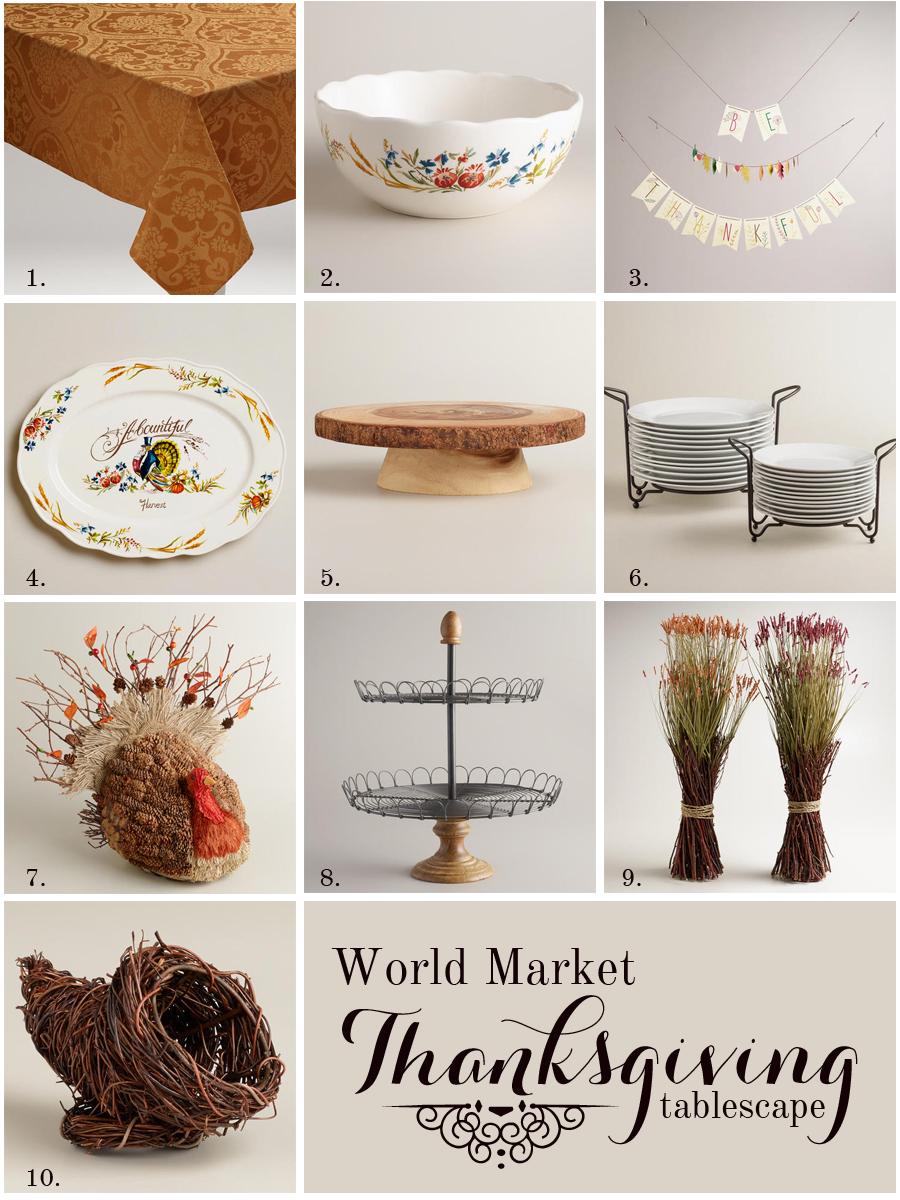World Market Thanksgiving Ideas via Erin Lauray >> #WorldMarket ...