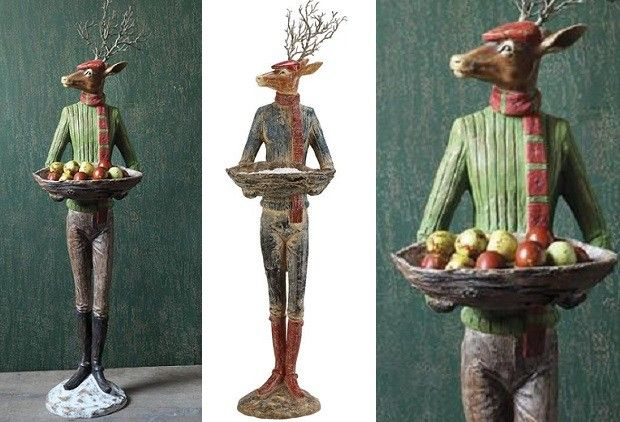 Tall statues for home decor Life Size Tall Reindeer Man Statues Tall Reindeer Men Bring The Holidays To Life In Whole New Way Each Holds Decorative Bowl Offering Good Tidings To For Your Pinterest Tall Reindeer Man Statues Tall Reindeer Men Bring The Holidays To