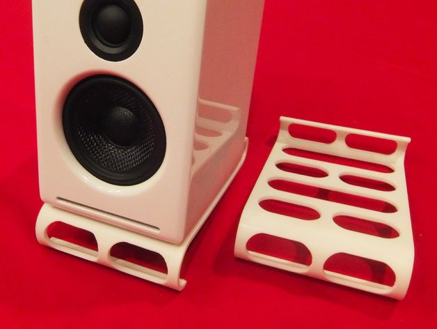 Desktop Speaker Stands By Muckychris Thingiverse Speaker Stand