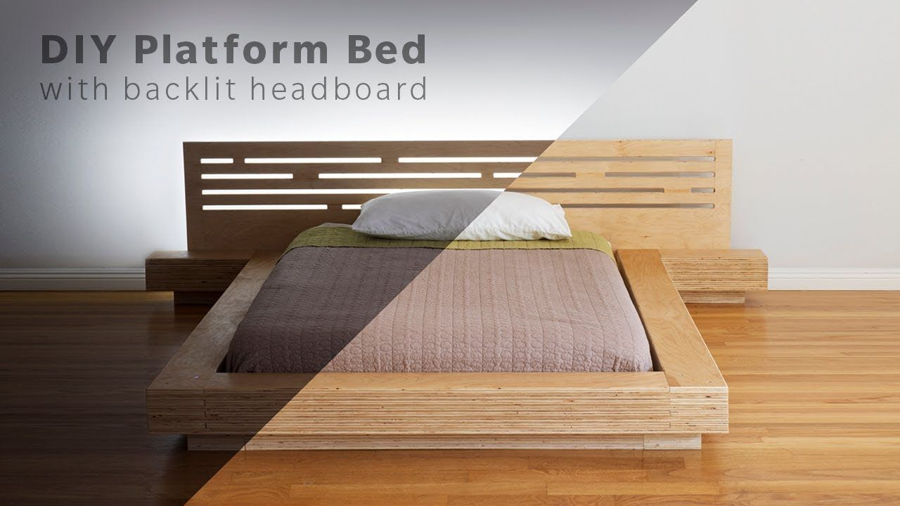 Cheap Easy Low Waste Platform Bed Plans Diy Bed Frame Diy