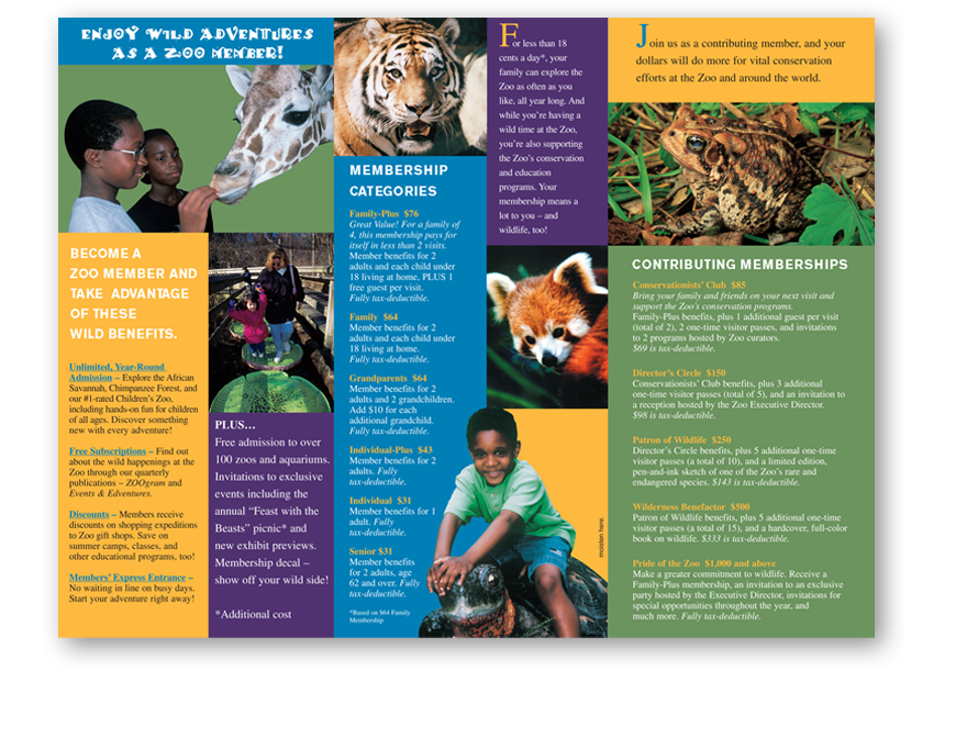 Zoo Annual Pass Brochure Google Search The Las Vegas