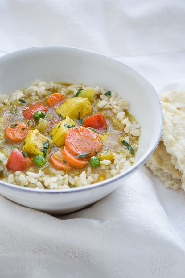 Chicken Vegetable Curry Bowl - taste love and nourish